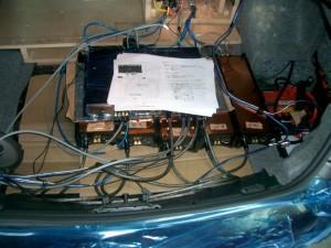 コチラは完成前のシステムチェックです。