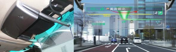もちろんヘッドアップディスプレー装着なので、ルートが視界に浮かび上がり安全走行に貢献。